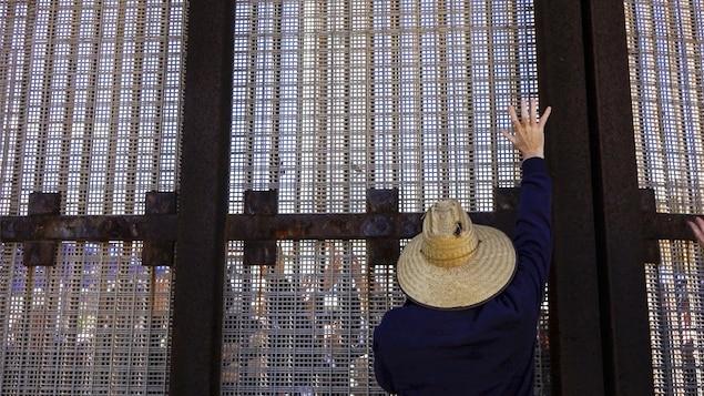 Une partie du mur entre le Mexique et les États-Unis
