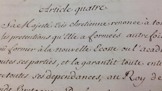 Photo de l'article quatre du traité de Paris de 1763