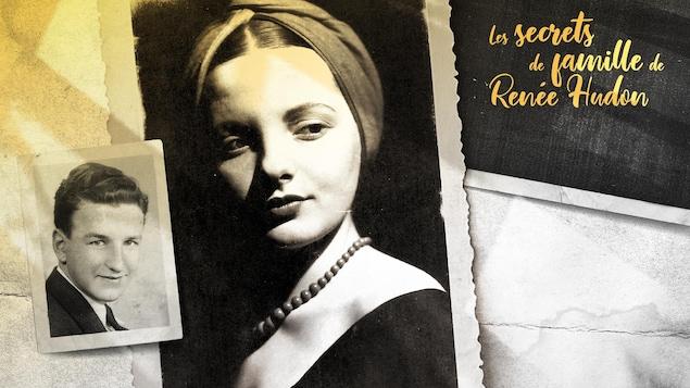 Deux photos de portrait de Marcel Morency et d'Irène LeBlanc.
