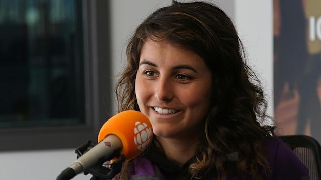 Sarah Gauthier, en studio