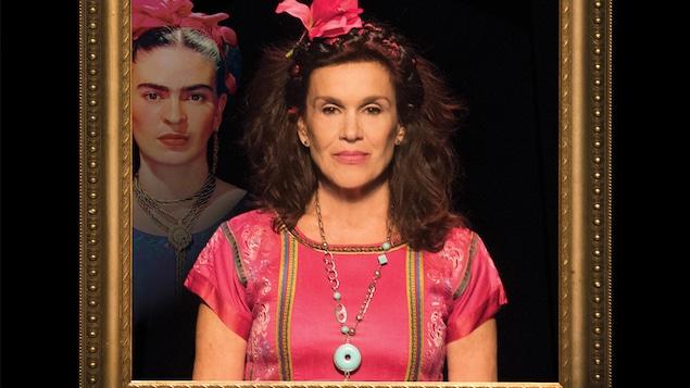 L'actrice Sophie Faucher joue Frida Kahlo