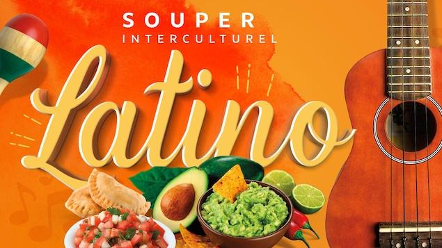 Affiche annonçant le souper interculturel latino de Manicouagan interculturel