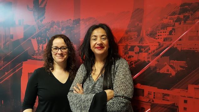 La professeure de politique américaine Karine Prémont et Sondès Allal, l'instigatrice d'UPOPS, l'université populaire de Sherbrooke.