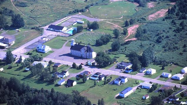 Vue aérienne de la municipalité de Saint-Alphonse