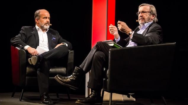 Yannick Villedieu et Éric Bédard à la BANQ