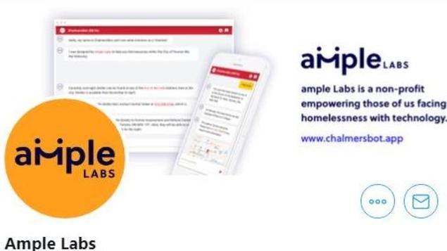 Logo de la compagnie Ample Labs qui a produit l'applicaiton Chalmers Bot.