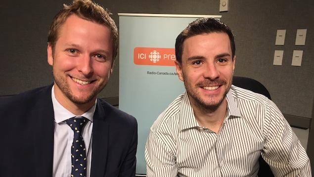 Alexandre Blanchard et Benoit Fabreguettes, membres du comité organisateur des prix Relève TO.