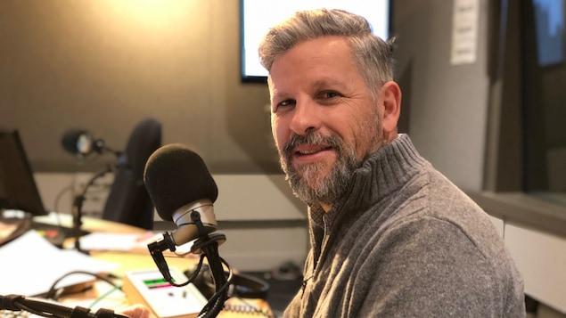Stéphane Berthomet, en studio à Toronto.