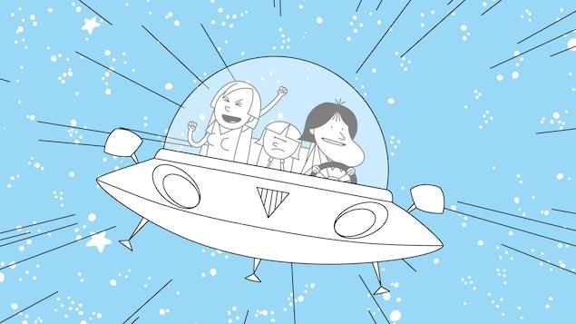 La famille dans un vaisseau
