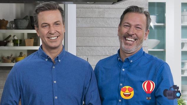 deux homme identiques dont un faux en cire.