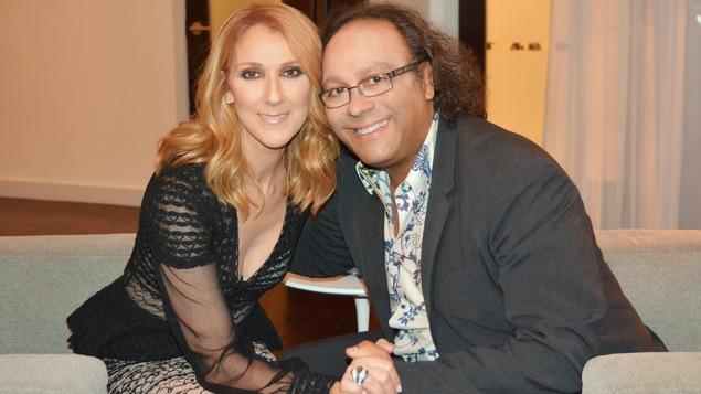 Céline Dion et Josélito Michaud se tiennent par la main