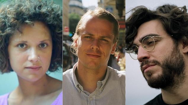 3 visages de trois cinéastes côte à côte