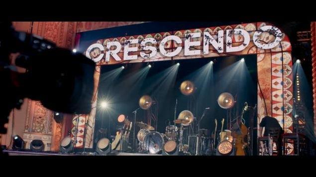Scène de l'émission Crescendo.