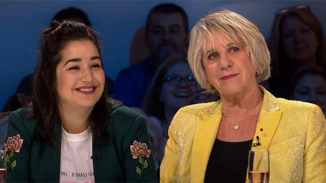 Mariana Mazza et Denise Bombardier à l'émission Les enfants de la télé