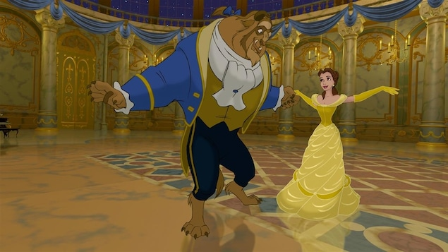La princesse danse avec la bête