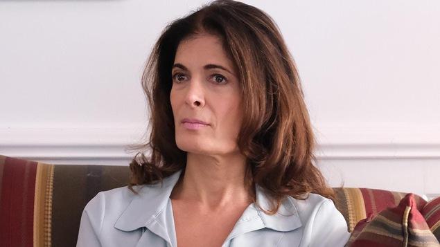 La photo d'Anne-Marie Cadieux, qui interprète Mireille Poirier Hamelin, la femme du président.