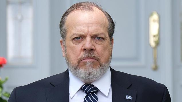 La photo de Guy Nadon, qui interprète Jacques Hamelin, président du Québec.