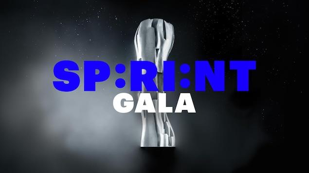 Le trophée des Iris en arrière-plan devant le titre Sprint Gala.