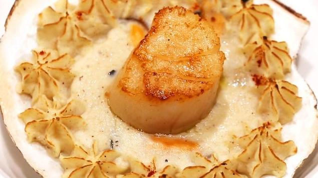 Coquille de fruits de mer au gratin