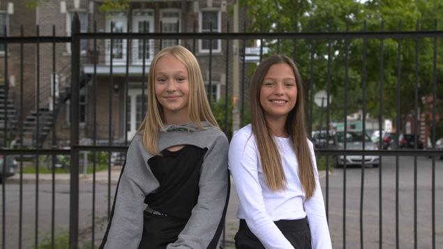 Justine et Mila.