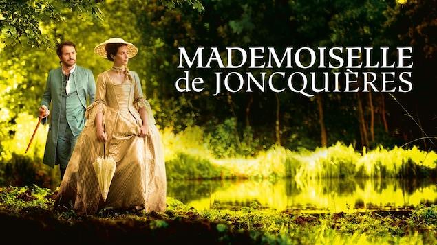 L'affiche du film, avec Edouard Baer et Cécile de France en robe et tenue d'époque.