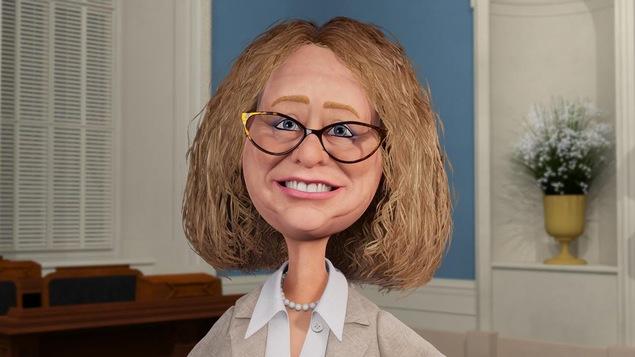 Elle est dans l'assemblée nationale.