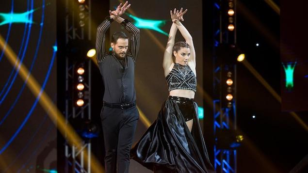 Mylène St-Sauveur et Nico Racicot dansent un paso doble racé.