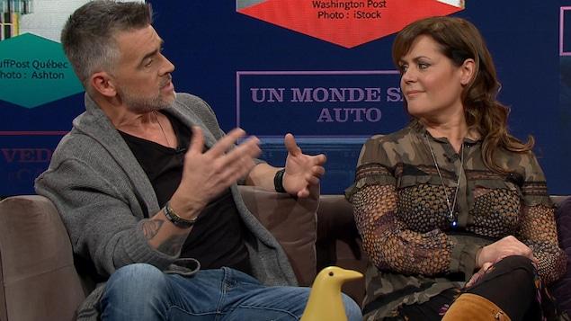 Patrice Godin et Patricia Paquin.