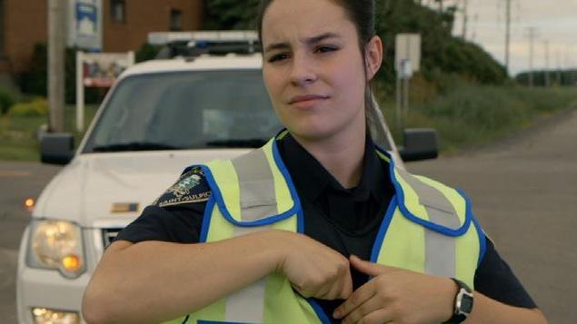 Une jeune policière