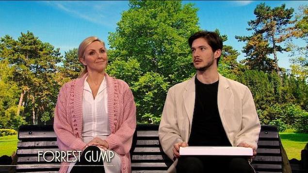 Véronique Cloutier et Éric Bruneau reproduisent une scène de Forrest Gump