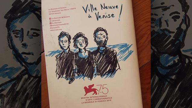 Un dessin exclusif du cinéaste Félix Dufour-Laperrière sur le programme du Festival de Venise.