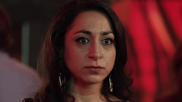 la comédienne dans son rôle de Yasmine dans Le monstre.