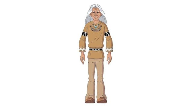 Shaman est le vieux sage du village. Il incarne la mémoire vivante des traditions, des contes et des légendes des Premières Nations. Il communique avec Manitu dans sa tente tremblante, en frappant sur son tambour. Il entend sa voix, mais ne le voit pas.