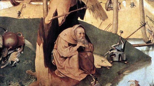Détail de La tentation de Saint-Antoine, une peinture de Jérôme Bosch