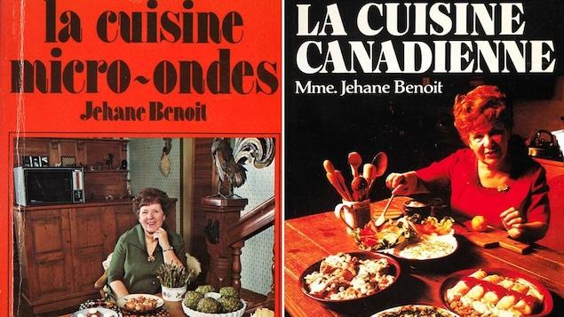 Couvertures de deux livres de la cuisinière Jehane Benoît.
