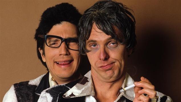 Célèbre duo Ding (Serge Thériault) et Dong (Claude Meunier) en 1983.