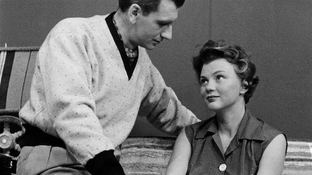 Janette Bertrand et Jean Lajeunesse, en 1954