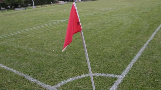 Un terrain de soccer
