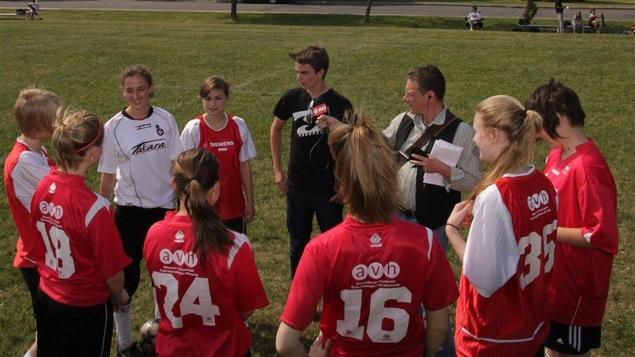 L'équipe de soccer de l'école secondaire Alexander Von Humboldt