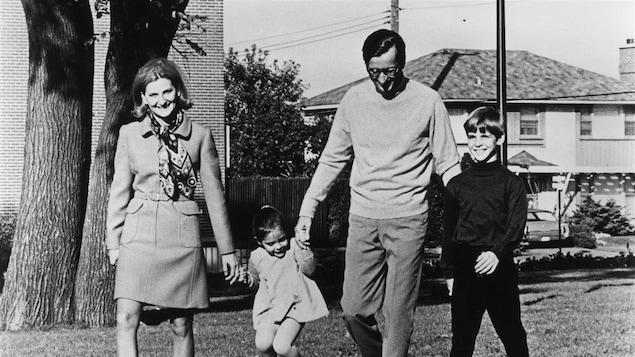 Robert Bourassa et sa famille en 1970