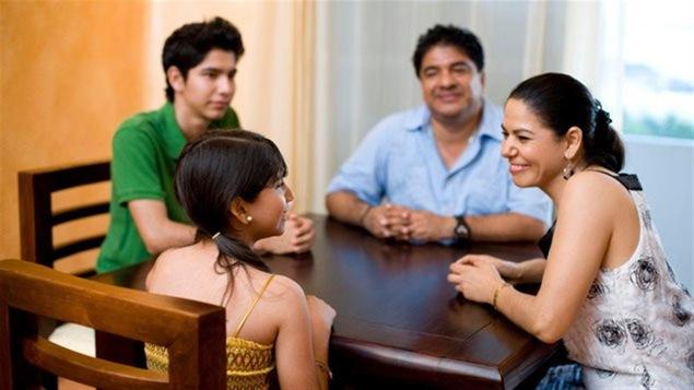 Une famille hispanique