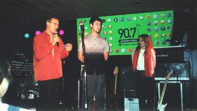 Pierre Lapointe, lauréat du concours Tout nouveau tout show en octobre 2000