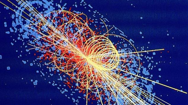 Désintegration d'un boson de Higgs