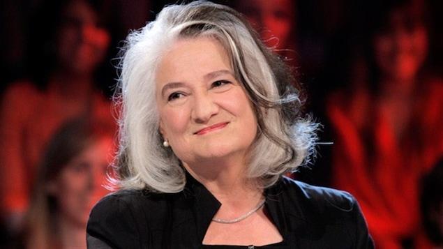 L'auteure Marie Laberge sur le plateau de l'émission Tout le monde en parle, en octobre 2013