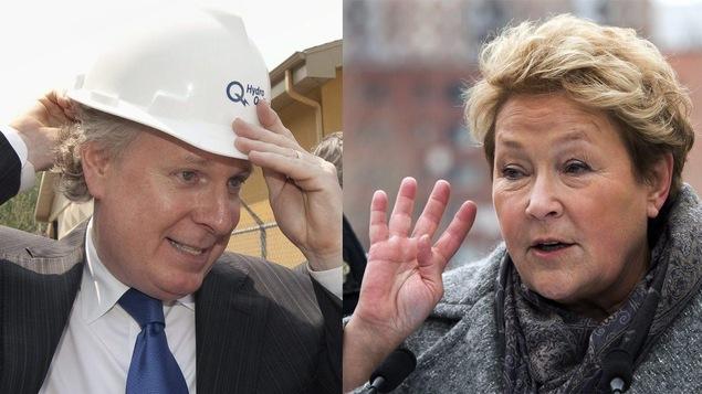 Jean Charest et Pauline Marois