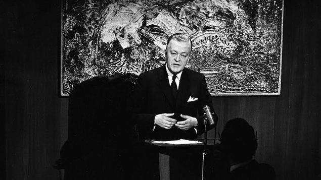 Jean Lesage, premier ministre du Québec, en 1963