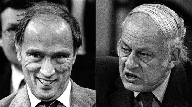 Pierre Elliott Trudeau et René Lévesque, le 5 novembre 1981