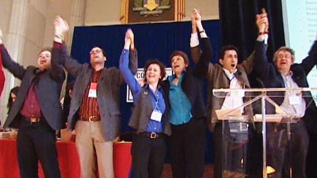 La conclusion du congrès de fondation de Québec solidaire en 2006