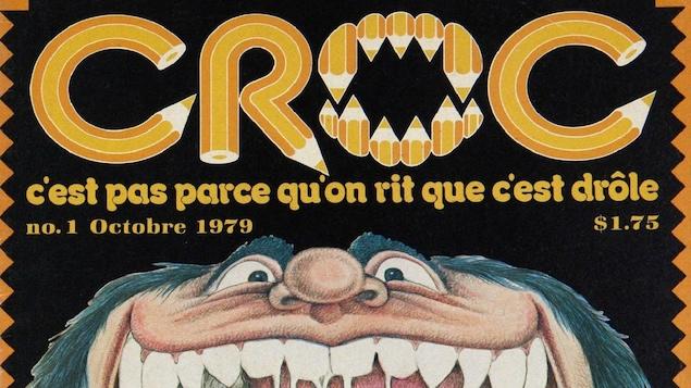 Une partie de la page couverture du premier numéro de <em>Croc</em>.