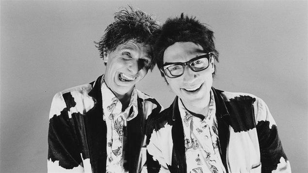 Serge Thériault et Claude Meunier dans le groupe Ding et Dong en 1989